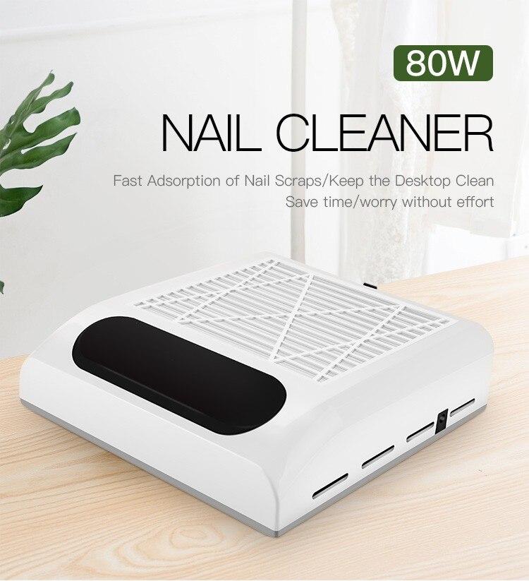 110V-240V 80W uñas colector de polvo de uñas ventilador lámpara UV lámpara LED para secado de uñas de detección automática con LCD de 30s de secado rápido envío gratuito