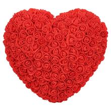 Rose artificielle en forme de amour   Fleur en mousse, cadeau pour mariage, saint valentin, pour fille