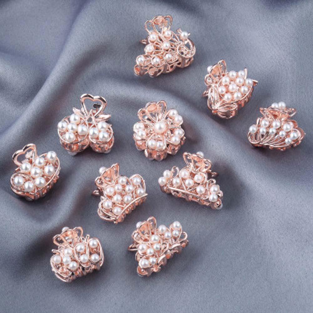 Elegante cristal imitación clip de perla para el cabello garra encanto horquilla tipo cangrejo aleación pelo garra mujeres cabello herramientas de estilismo accesorios para el cabello