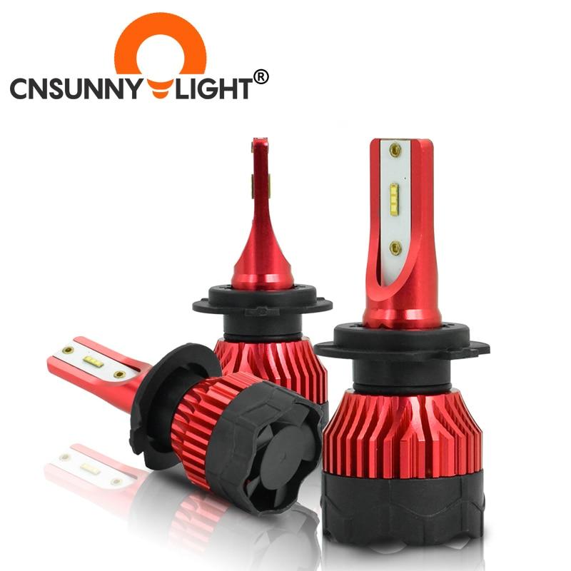 CNSUNNYLIGHT K5 H4 LED H7 H11 H8 H9 H1 ZES bombillas de faro delantero de coche 9005 9006 H13 faro principal luces mejor que Auto mazorca Led lámparas