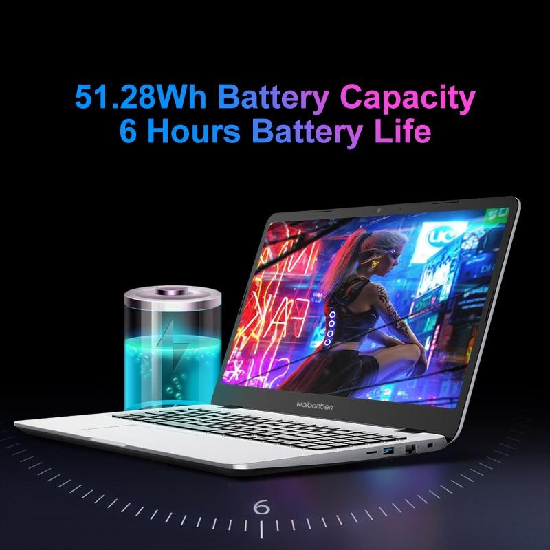 MAIBENBEN Laptop M543  Notebook Laptop [AMD Ryzen 3 4300U, 15.6 inch ADS FHD,4G/8G/16G Linux/Windows10] One Years Warranty