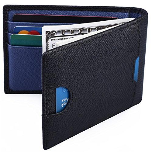 Mens Money Clip Wallet RFID Blocking Slim Wallets Leather Front Pocket Wallet