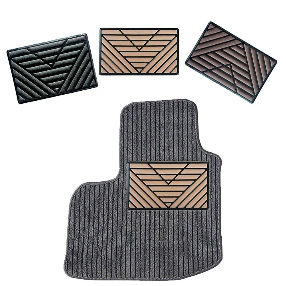 Universal Black PVC Car Floor Carpet Pad Heel Foot Mat Pedal Patch Cover 25cm x 15cm Car Foot Pad Car Mat