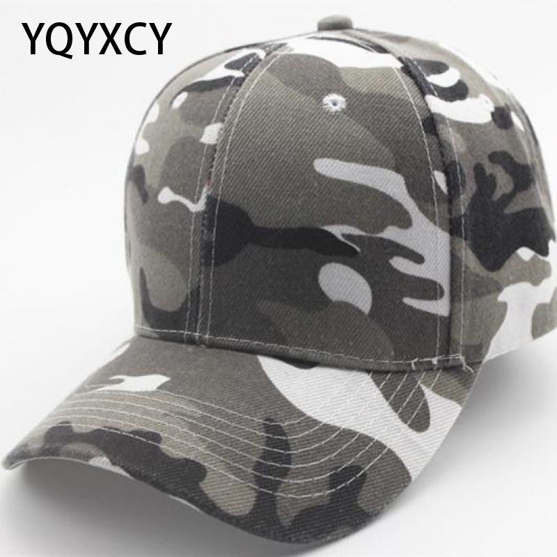 YQYXCY Camouflage Baseball Cap Women's Men's Snapback Hip Hop Cap Camo Hats For Women Men Army Cap Female Gorras Bone Male Cheap