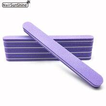 10Pcs/lot Sponge Nail File lime a ongle professionel 100/180 Grit Sanding Block White and Gray nagel vijl Manicure NailFile Tool
