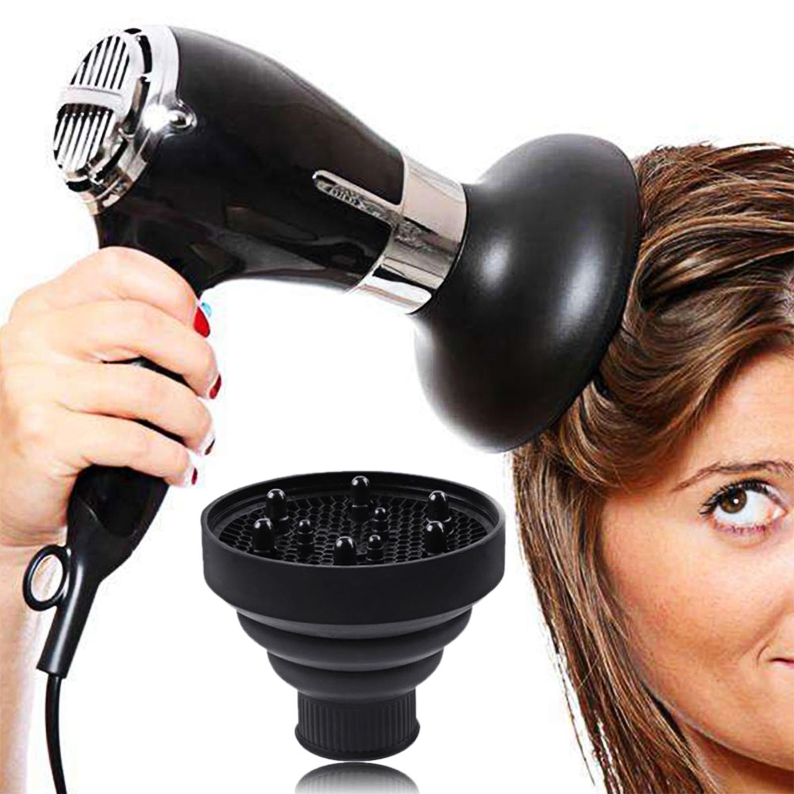 Secador de pelo portátil y plegable de tapa de fácil uso de...