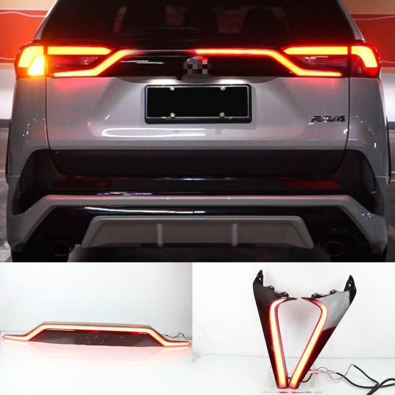 Dynamic car bumper tail light for RAV4 taillight RAV 4 2019~2021 LED car accessories Taillamp RAV4 rear light fog