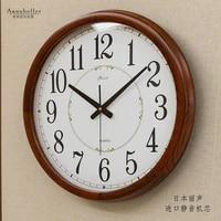 large wall clock modern design solid wood living room bedroom home decor quartz clocks wall watch digital wall clocks brief