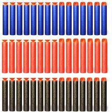 100 sztuk miękkie Hollow okrągłe głowy i Sucker strzałki z możliwością napełnienia naboje do zabawkowego pistoletu dla Nerf serii EVA wojskowy prezent zabawki dla dzieci dzieci