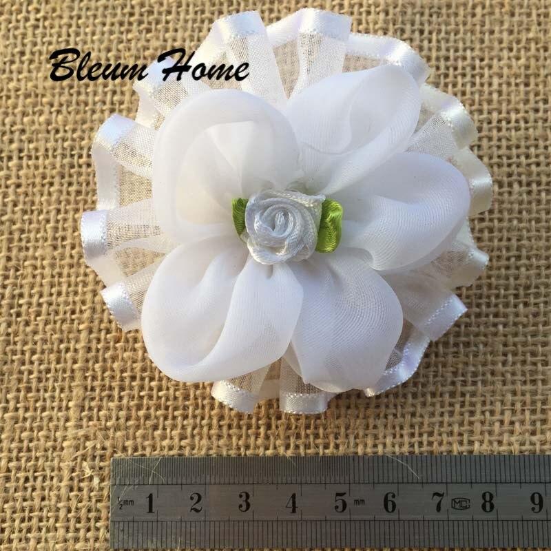 2 unids/lote, diadema de goma nueva para apertura de estudiante, diadema blanca de cinco pétalos, diadema de flores, cinta de raso de pelo, lazo elástico