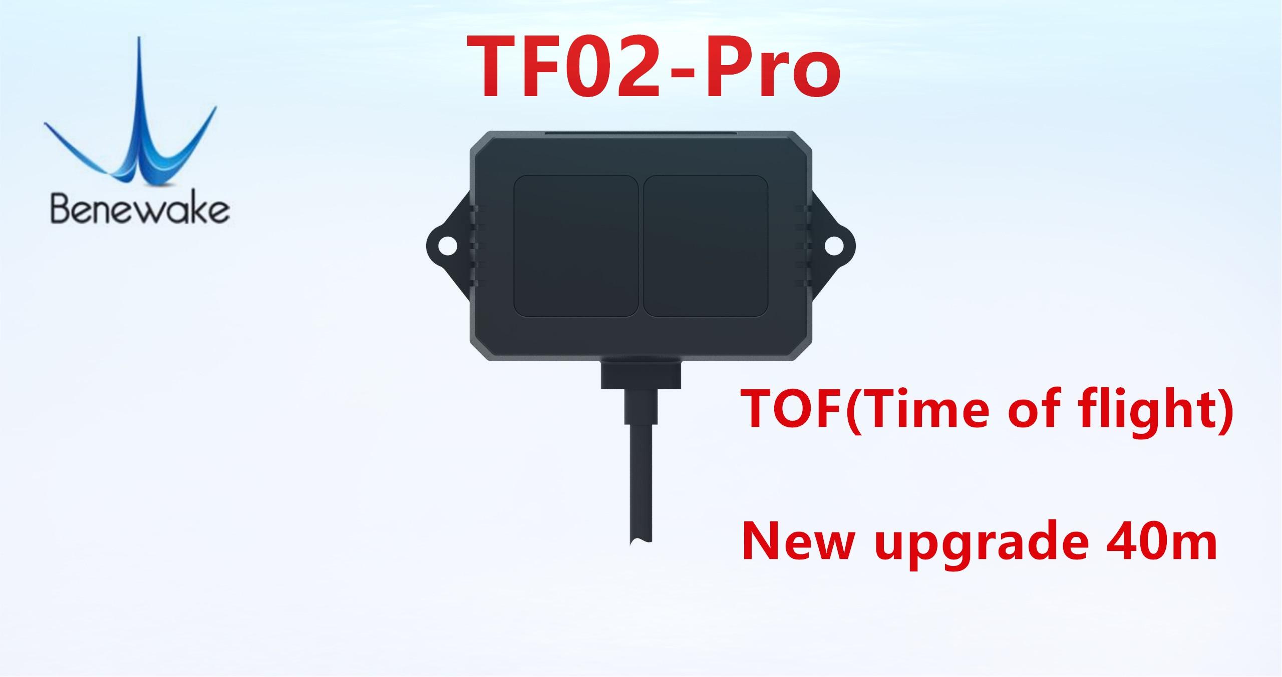 Benewake TF02-Pro tof 40 medidores single-point variando lidar para detecção de nível de material de transporte inteligente e uav