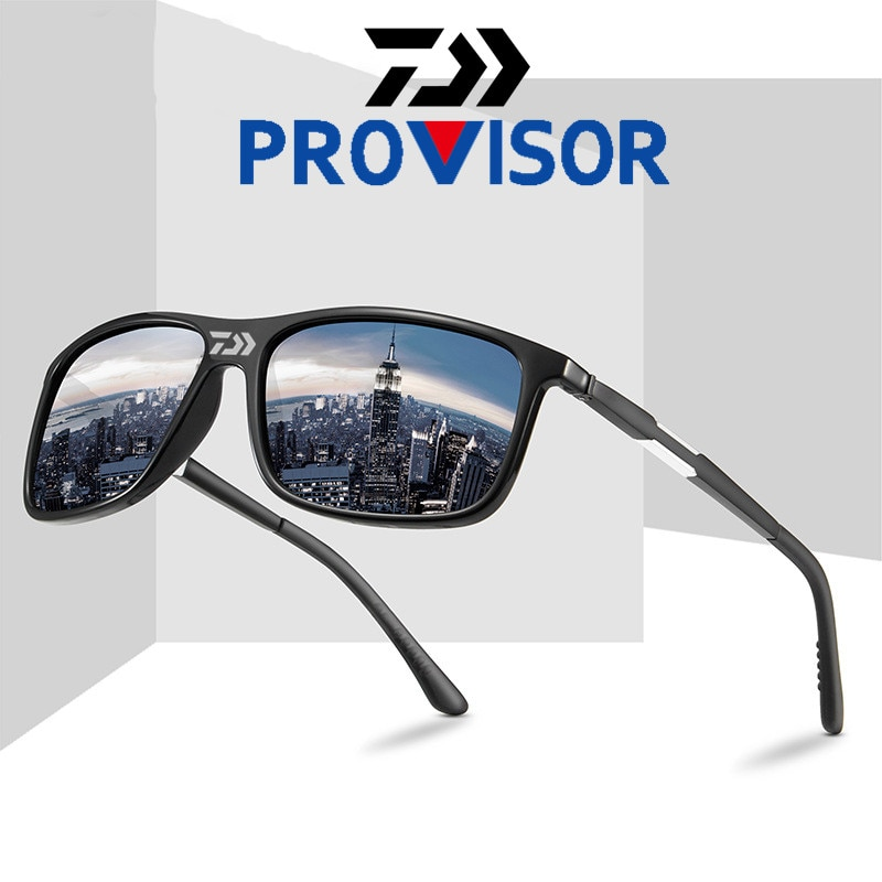 Daiwa gafas de sol polarizadas ligeras para pescar para hombre, gafas de sol para conducir, gafas de pesca, gafas Retro coloridas de tendencia, características de Deportes de equitación