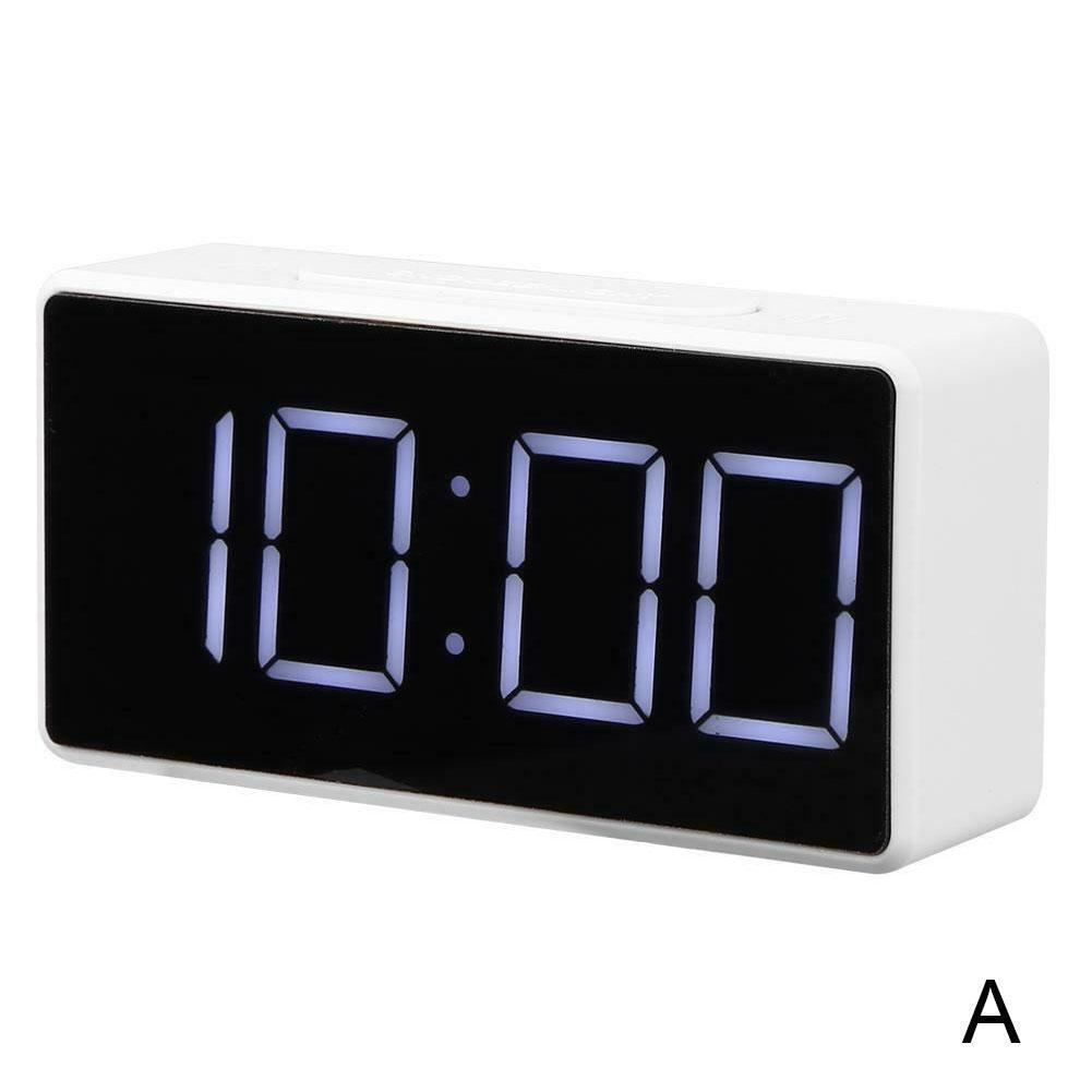 Reloj electrónico LED de escritorio para estudiantes, cronógrafo sencillo con termómetro, despertador...