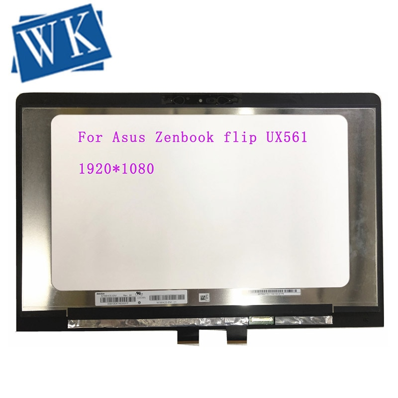 15,6 Laptop LCD LED MONTAJE DE digitalizador con pantalla táctil para Asus Zenbook flip UX561 UX561U UX561UA 1920*1080 IPS N156HCE-EN1 6 agujero