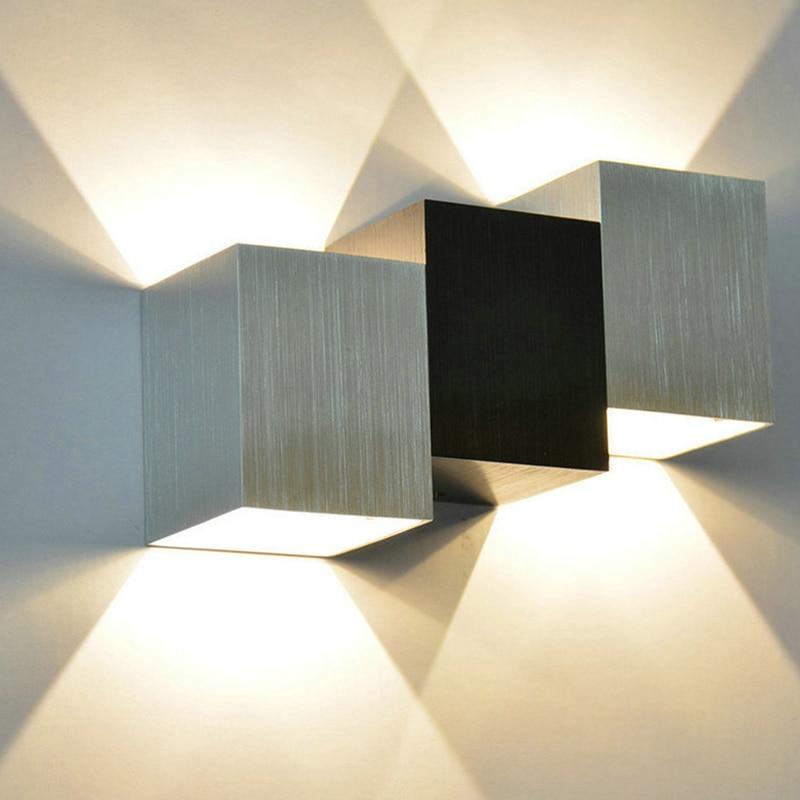 Светодиодная креативная алюминиевая настенная лампа в форме лестницы, коридора, прикроватная лампа, для спальни, гостиницы, гостевой комна...