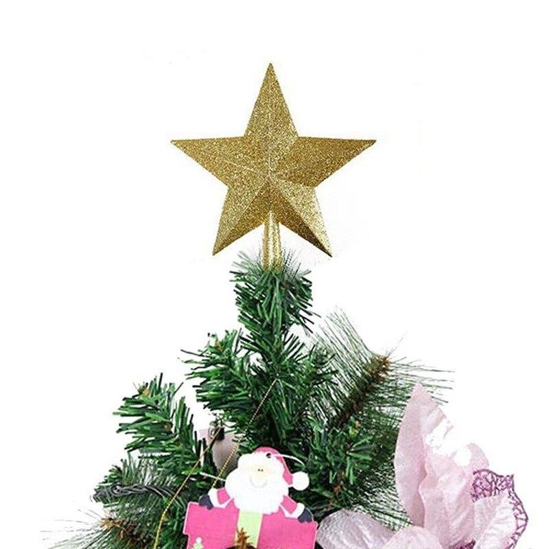 Decoración de árbol de Navidad Estrella brillante árbol de Navidad Topper plástico...