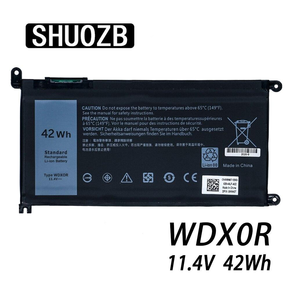Laptop Battery WDX0R T2JX4 3CRH3 WDXOR for Dell Inspiron 13 5000 5368 5378 7368 14 7000 7560 7460 5567 15MF PRO-1508T FW8KR New