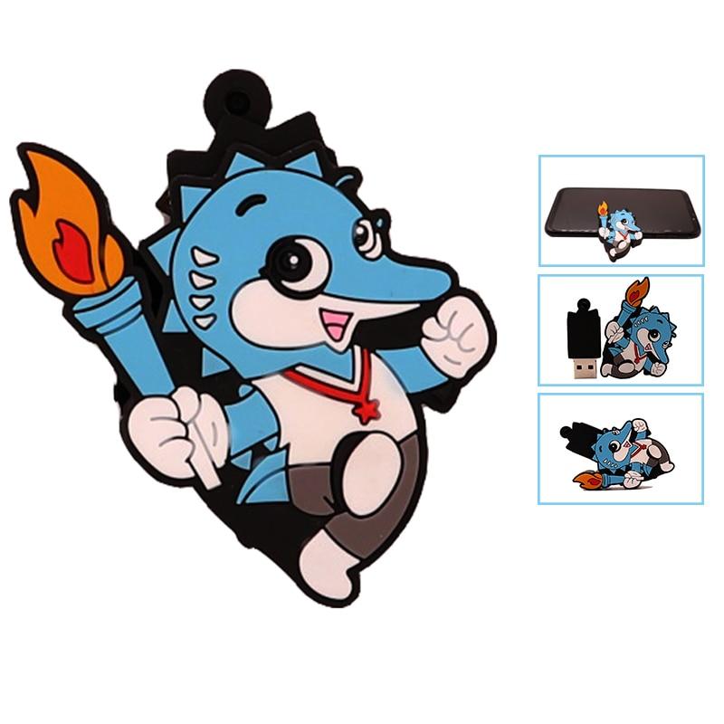 USB2.0 pendrive 128GB pen drive 64gb cute cartoon animal usb flash drive 4GB 8GB 16GB 32GB 64GB memory stick creative gift cle