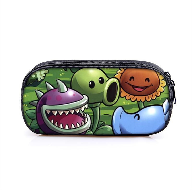 Plants vs Zombies, estuche lápices dibujos para niño y niña, Bolsa Escolar, bolsas para niños, bolso para plumas de estudiante, monedero para niños, cartera
