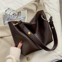 Simple Solid Color Leather Crossbody Bag for Women 2021 New Women's Handbag Brand Designer Ladies Ca