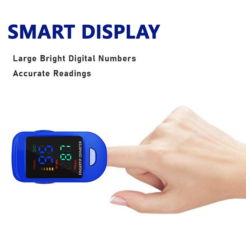 Medical Household Digital Fingertip pulse Oximeter Blood Oxygen Saturation Meter Finger SPO2 PR Monitor health Care