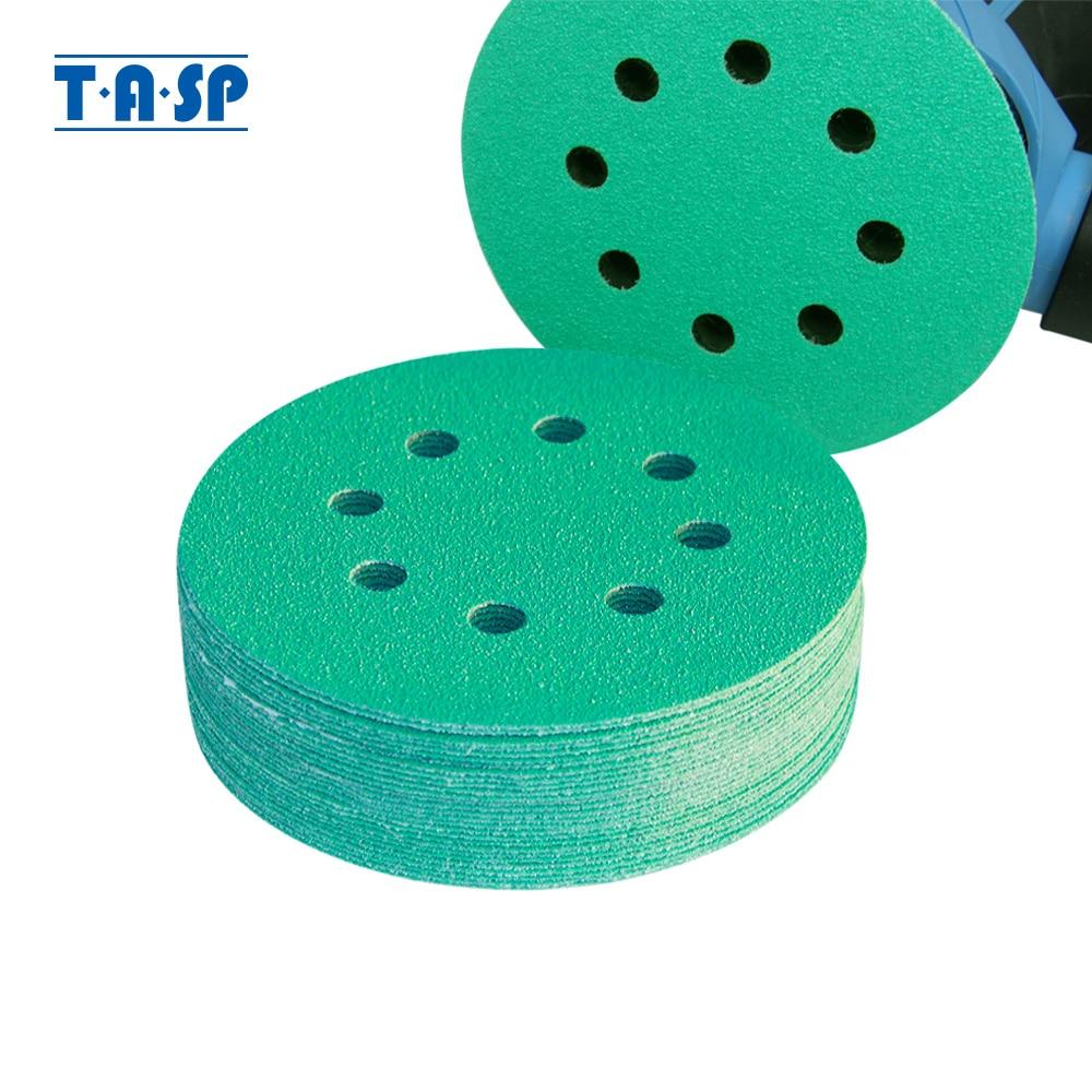 """25pcs professionnel anti-sabot 125mm papier de verre 5 """"film disque de ponçage humide et sec crochet et boucle outils abrasifs avec grains 60-400"""