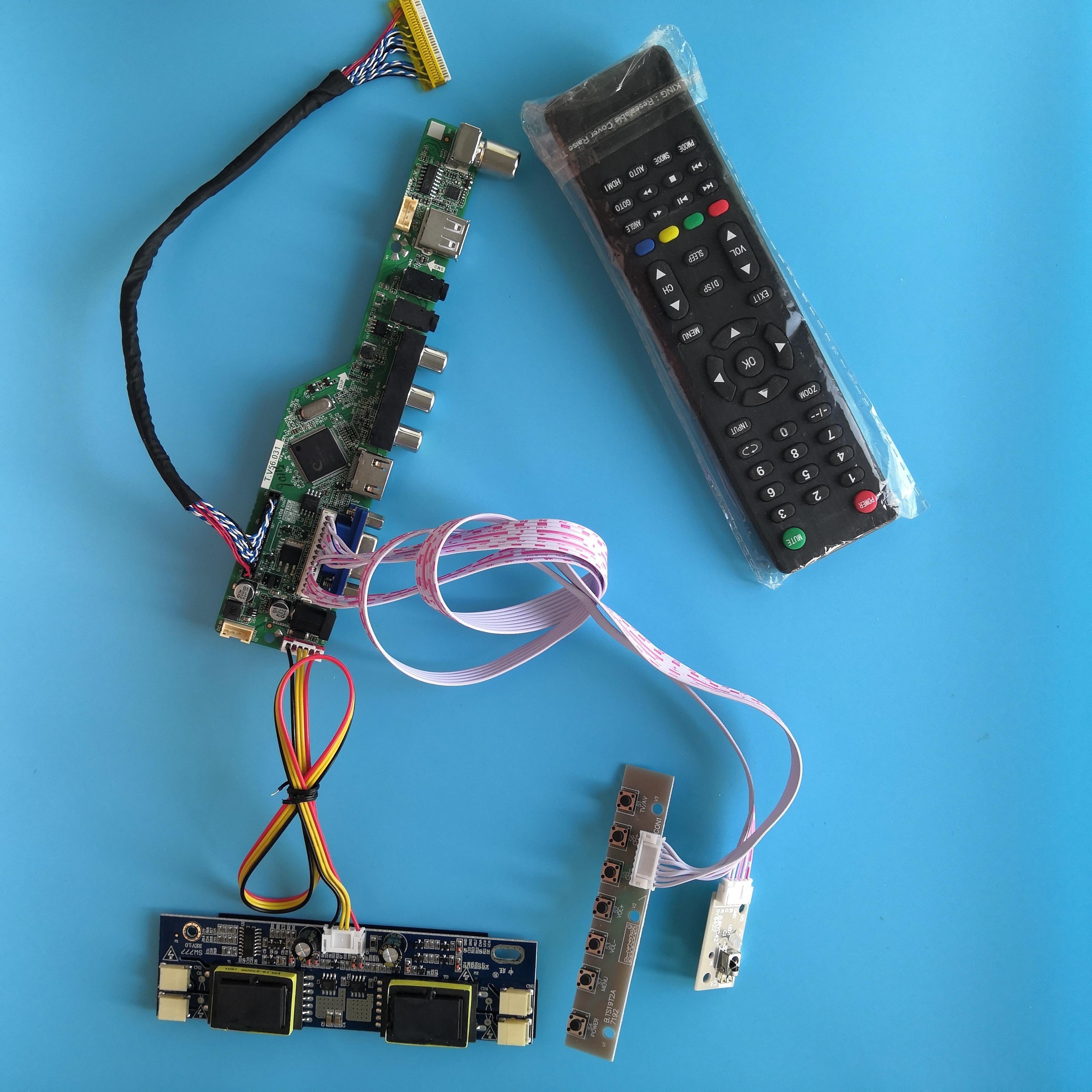 لوحة تحكم بطاقة تلفاز AV رقمية للإشارة USB لدقة M220EW01 V0 1680X1050 22