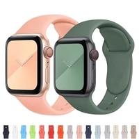 rubber strap for apple watch band 44mm 40mm 38mm soft silicone bracelet correa bracelet iwatch 6 se 5 4 3 40 44 42 mm