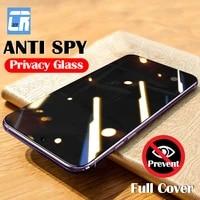 anti spy privacy tempered glass for xiaomi 11i poco f3 m3 c3 x3 nfc screen protector on redmi note 10 10s 9 k40 9t pro max glass