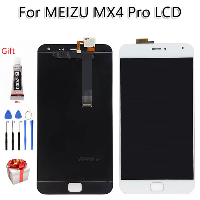 100% probado para MEIZU MX4 PRO LCD pantalla táctil 5,5 pulgadas digitalizador montaje herramientas gratis para MEIZU MX 4 Pro Display