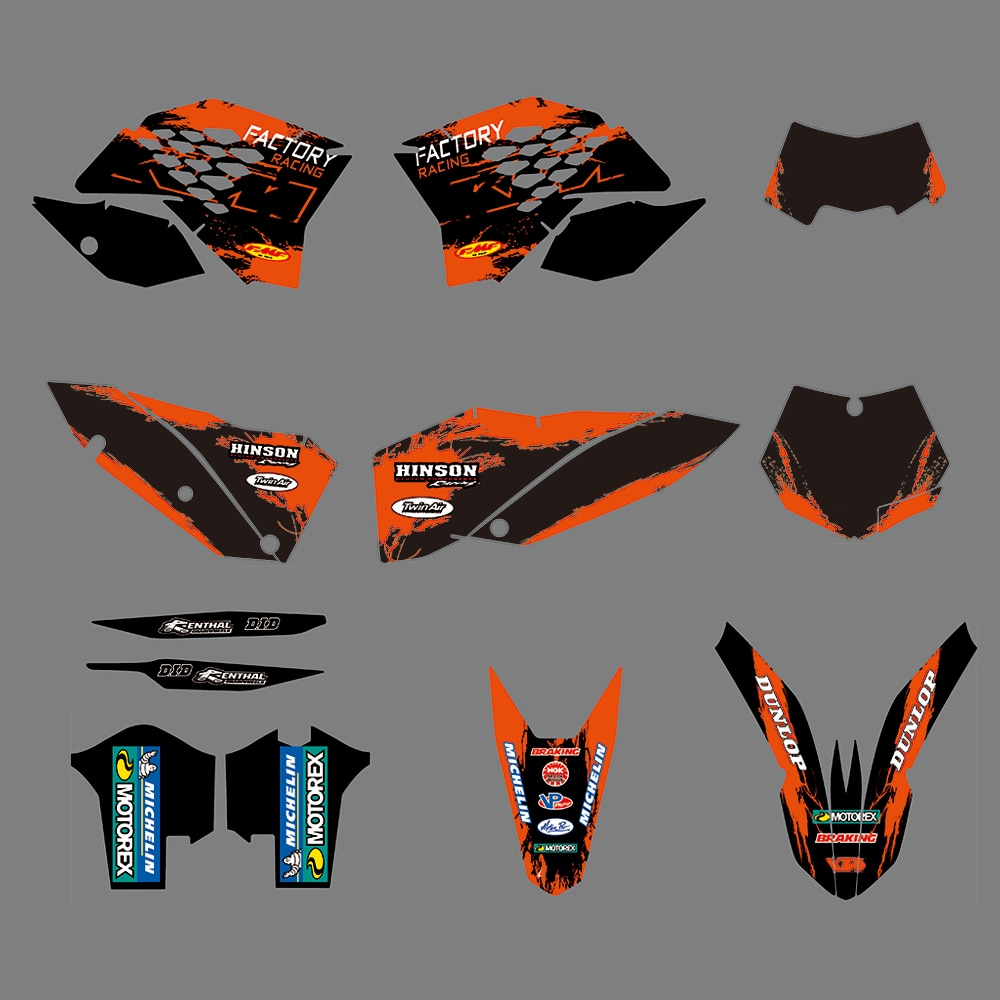 ملصقات جرافيك EXC EXCF XCF 2008-2011 لـ KTM SX SXF 2007-2010, مجموعة ملصقات الفريق للدراجات النارية 125 200 250 300 350 450 525 2010 2009