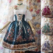 Femmes Kawaii Lolita princesse Missy robe grande taille gothique Loli robe Costume mignon Anime robe de femme de chambre pour fille 5XL