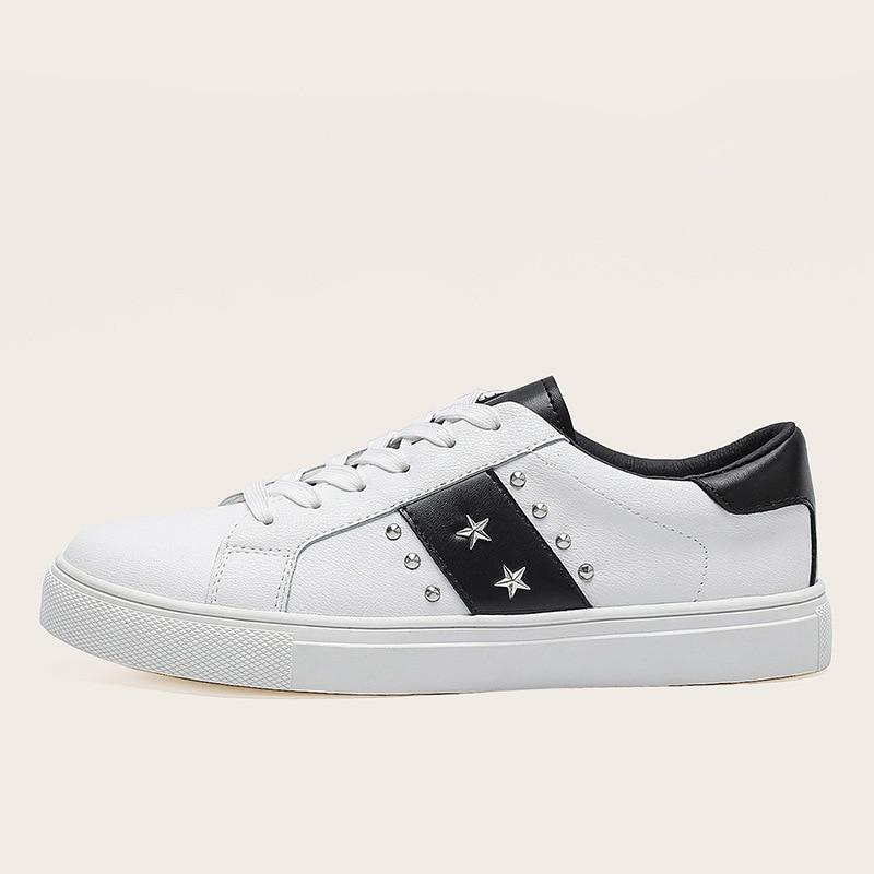 Zapatillas de deporte con remaches y estrellas para mujer, zapatos de ocio...