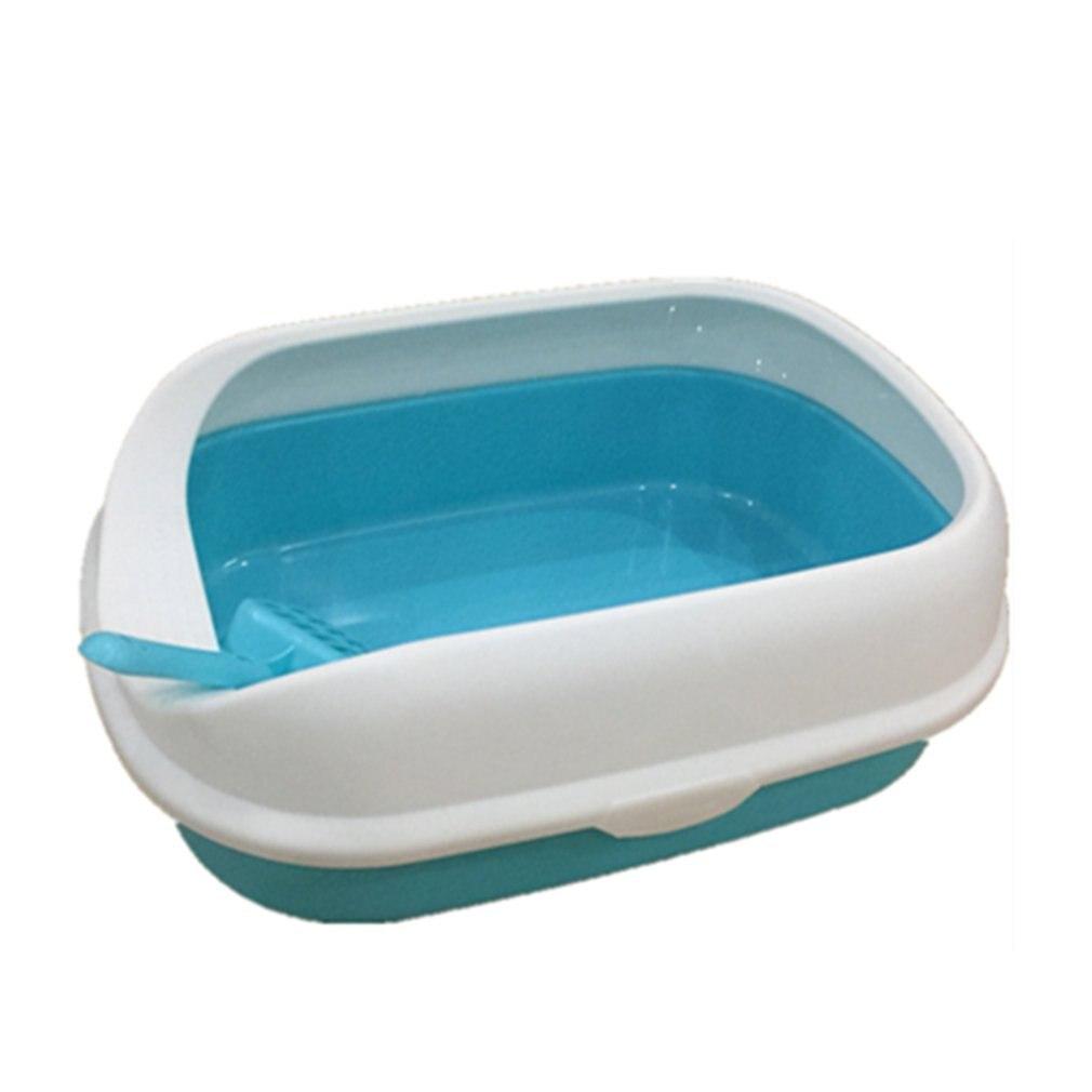 Portable Clean Cat Litter Box Training Bedpans Open Top Cat Sand Litter Box Cat Toilet Trainer For Pets Supplies