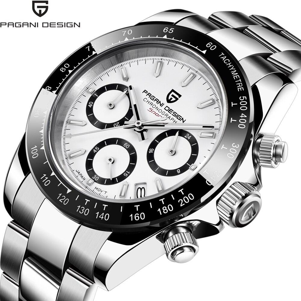 Nuevos relojes PAGANI DESIGN 2020 de cuarzo para Hombre, relojes de pulsera de negocios, Reloj de zafiro, cronógrafo japonés VK63 Reloj para Hombre