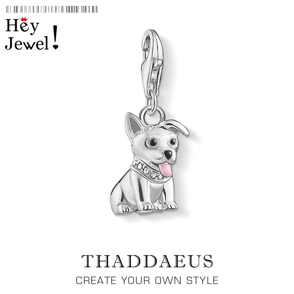 Corgi perro cachorro encanto colgante ajuste pulsera 2020 primavera lindo Plata de Ley 925 juguetón favorito mascota regalo para Mujeres Hombres joyería