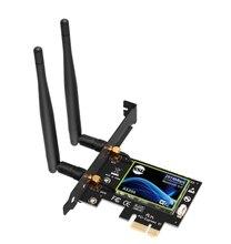 Carte WiFi double bande PCI Express Gigabit pour Intel AX200 2.4G/5Ghz 802.11Ac/Ax 5.0 adaptateur Bluetooth uniquement compatible Window10