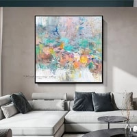 modern abstract color canvas art painting living room bedroom hand painted home decoration large wall decoration