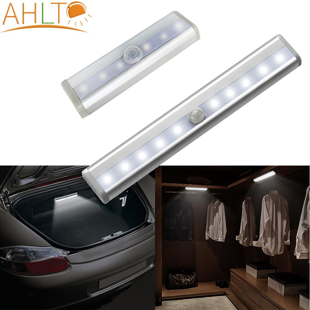 AliExpress - 6/10 Led USB PLR Smart Motion Sensor Night Light Magnet Double Sided Adhesive Kitchen Lights Wall Desk Lamp for Closet Kitchen