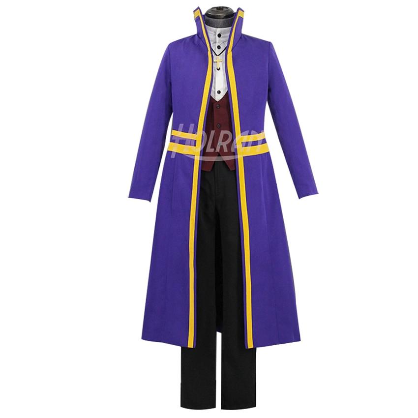 Disfraz de acción de aventura de Anime ángeles de la muerte disfraz de rol de Abraham camisa gris chaleco pantalones traje uniforme cos hot show