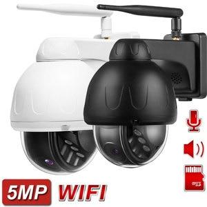 Wireless PTZ IP WIFI Metal Camera Outdoor ONVIF Human Auto Tracking 5MP IP Camera IR 40M Two Way Audio P2P APP CamHiPro