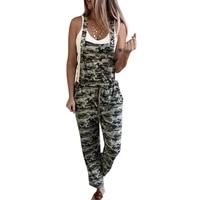 summer new camouflage womens long overalls overalls