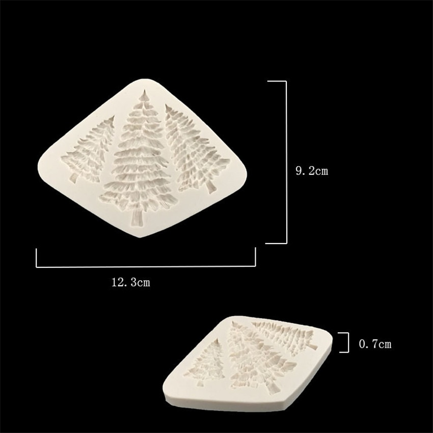 Купить с кэшбэком 3D Christmas Tree Shaped Cake Moulds Silicone Cake Mould Decoration For Kitchen DIY Cupcake Cookies Fondant Baking Mold Tools