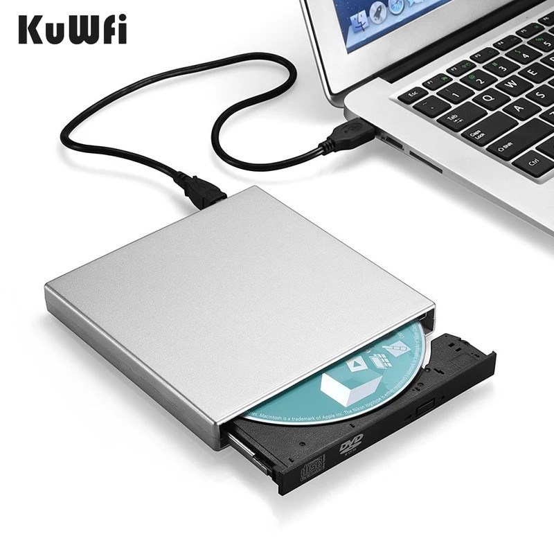 USB 2.0 DVD-ROM DriveCD RW CD-ROM player External DVD Optical Drive Recorder Portable for Macbook La