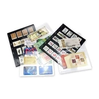 10PCS Lot Stamps Grid Black 2 Side Stamp Page of Stamp Album PVC Loose-leaf Inners of Collection Stamps Holders
