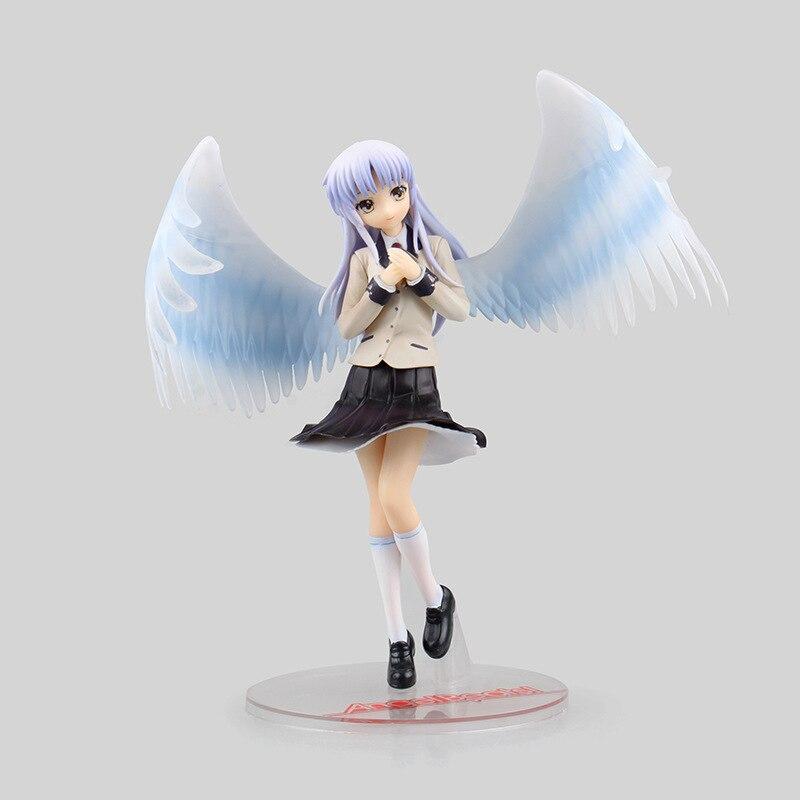 18cm Japan Anime Angel Beats Tachibana Kanade PVC Action Figures Toys Uniform Tachibana Kanade Collectible Model Toy Gift