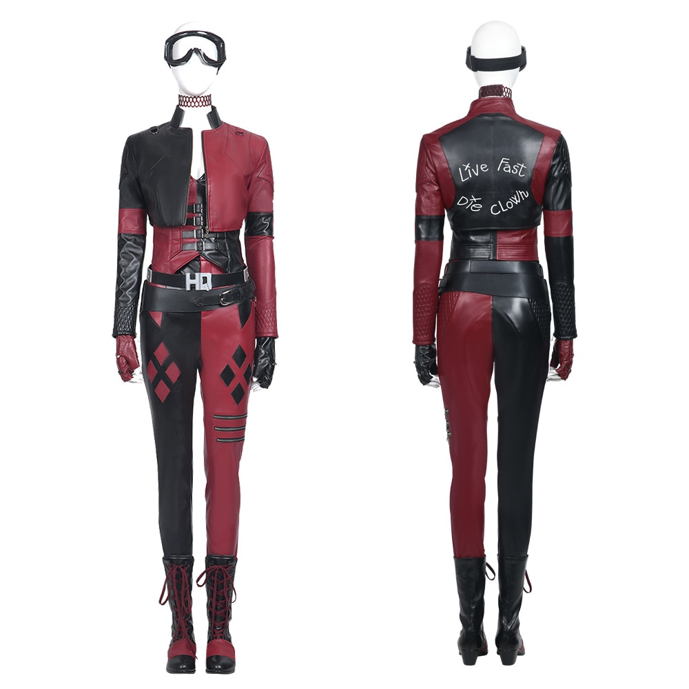 Movie Cosplay Suicide Season 2 Harley Costume Joker Girl Outfit Full Set Halloween Fancy Suit for Adult Women Any Size