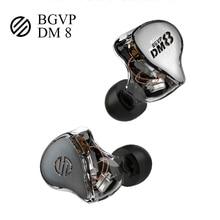 BGVP DM8 Knowles Sonion équilibré 8BA hybride en EarI moniteur musique Hifi casque Audio détachable Mmcx câble écouteurs casque