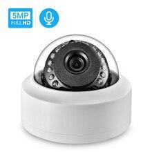 Hamrolte sony 5mp onvif ip 카메라 내부 마이크 모션 감지 nightvision 실내 돔 웹 카메라 xmeye 원격 액세스