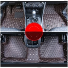 lsrtw2017 leather car floor mats for volkswagen tiguan 2007-2020 2019 2018 2017 2016 2015 2014 2013 2012 2010 2009 2008 MK2 vw